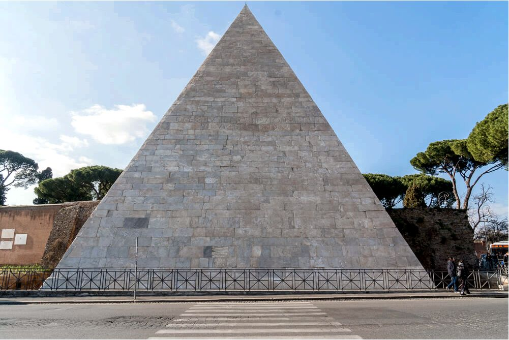 Pyramid of Cestius - one of Rome's hidden gems