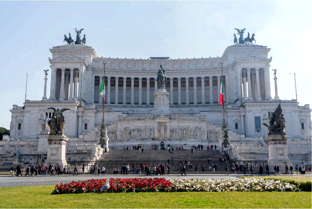 Vittoriano Monument - a great addition for an itinerary of 2 days in Rome